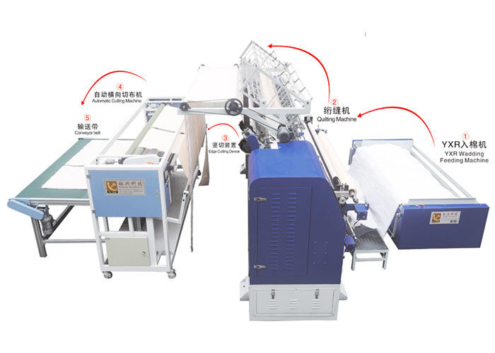 1200r/Min 94 Inch Multi Needle Quilting Production Line For Quilt