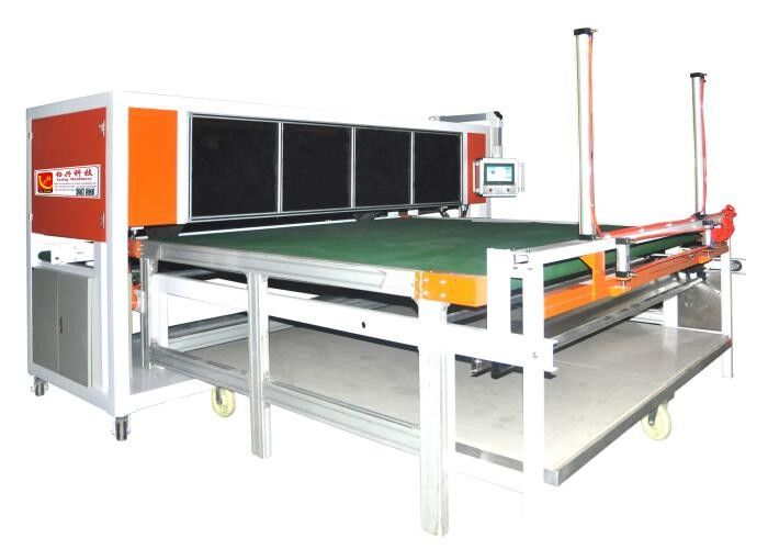 96 Inch 128 Inch Ultrasonic Commercial Textile Fabric Cutting Machine